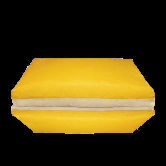 fodera materasso giallo beige