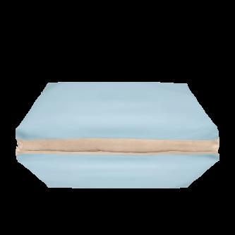 fodera materasso azzurro beige